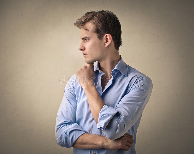 Handsome man posing royalty free stock images
