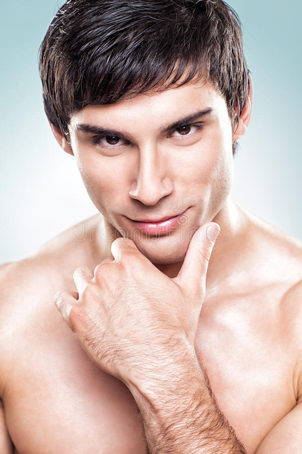 Handsome Man Posing stock photography