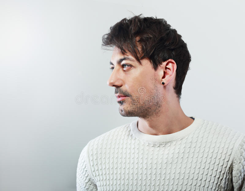 Handsome man profile royalty free stock photography