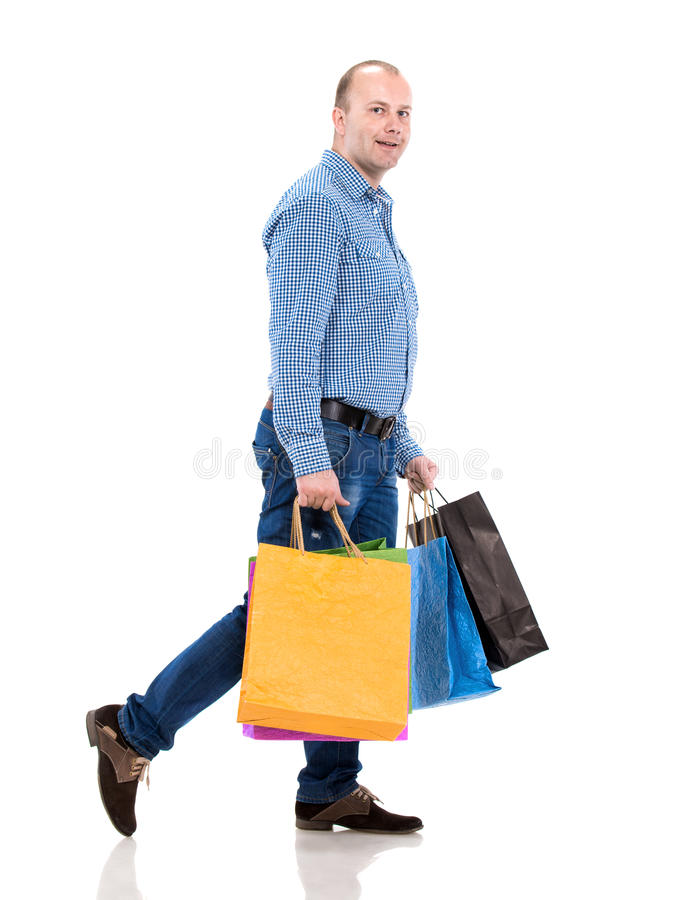 Download Handsome Man With Shopping Bags Royalty Free Stock Photography - Image: 35319907
