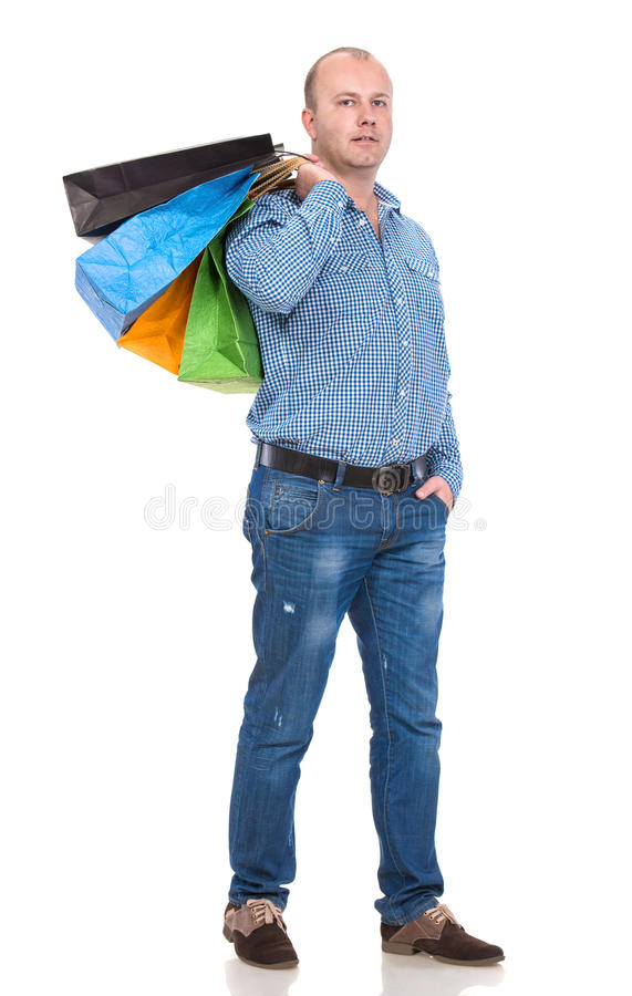 Download Handsome Man With Shopping Bags Stock Image - Image: 35319955
