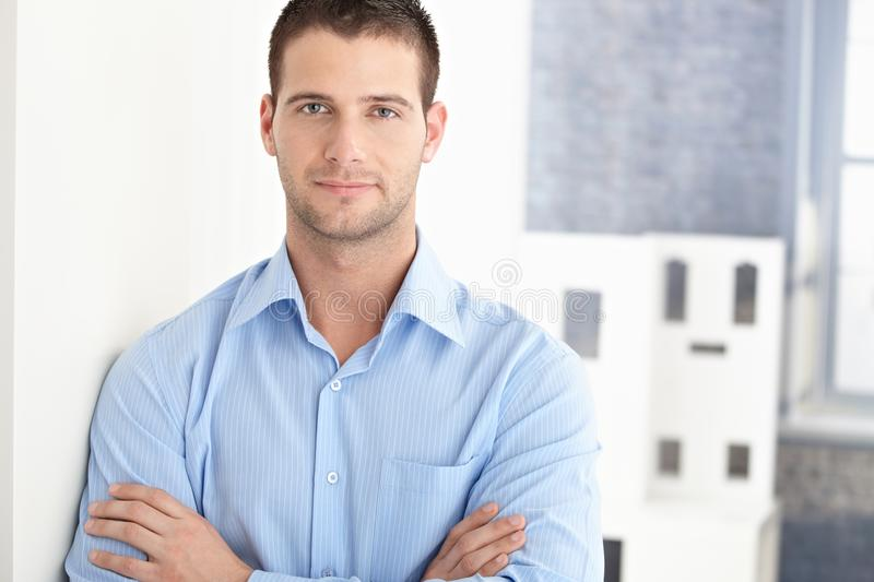 Download Handsome Man Smiling Arms Crossed Stock Image - Image: 18382357