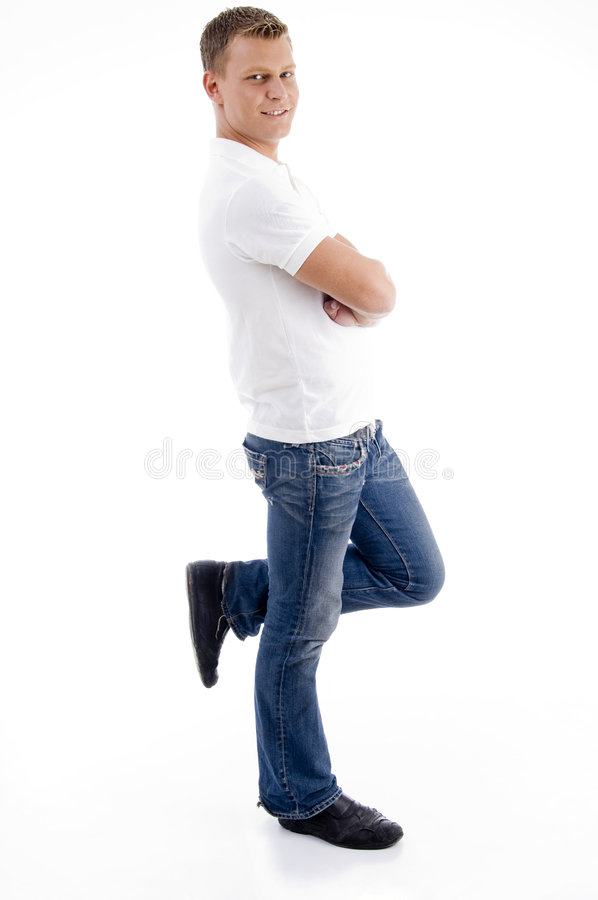 Download Handsome Man Standing On One Leg Stock Photo - Image: 7361878