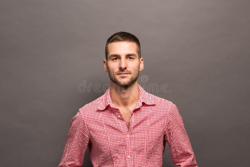 Handsome man in studio royalty free stock image