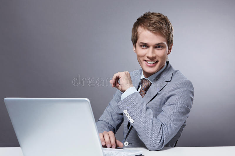 A Handsome Man In A Suit Royalty Free Stock Images