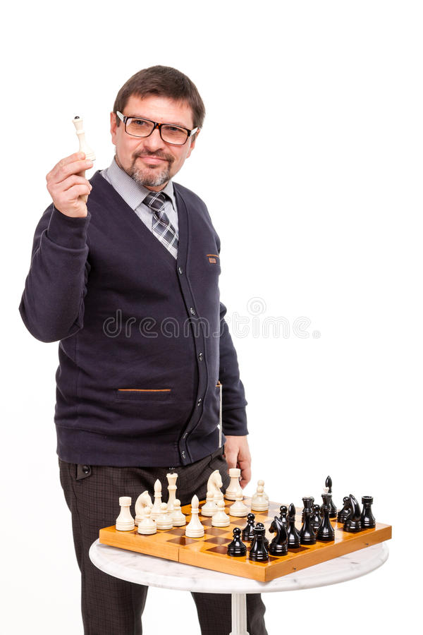 A handsome man in a suit and glasses, with a pipe for smoking an stock images