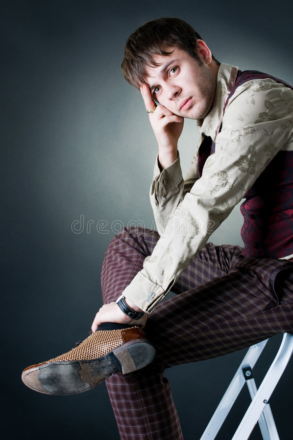 handsome man thoughtful στοκ φωτογραφίες