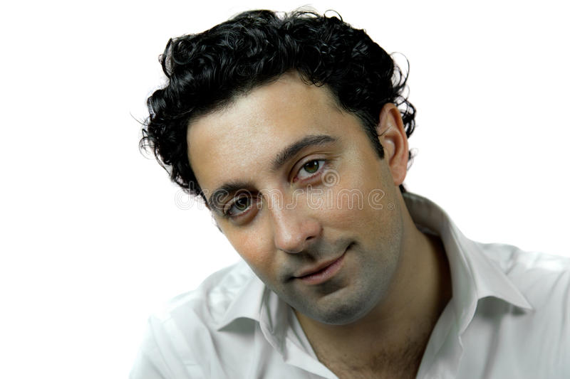 Handsome man in white royalty free stock images