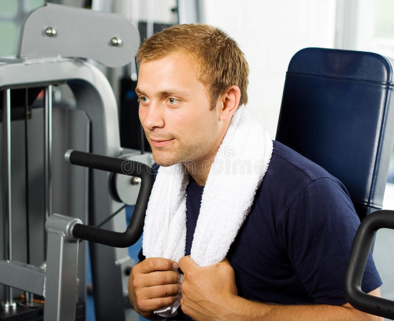 Download Handsome man working out stock photo. Image of supple - 10579548