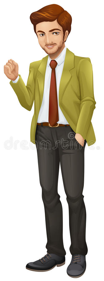 A handsome manager. Illustration of a handsome manager on a white background royalty free illustration