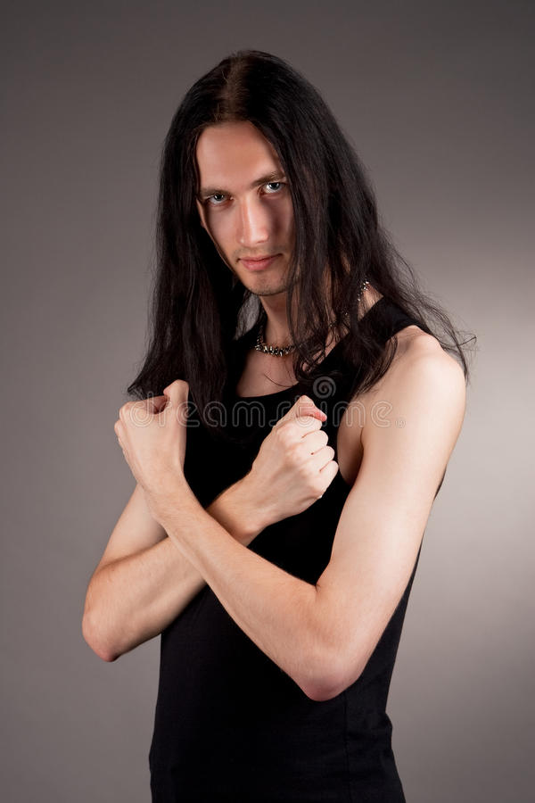 Download Handsome Masculine Gothic Man Stock Photo - Image: 11925760