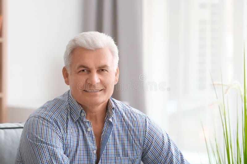 Handsome mature man stock photos