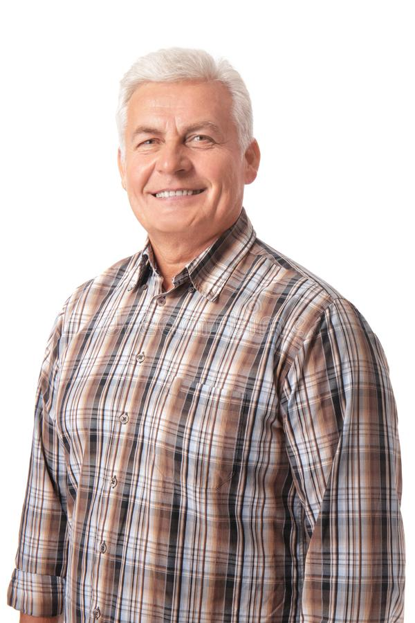 Handsome mature man, royalty free stock photo
