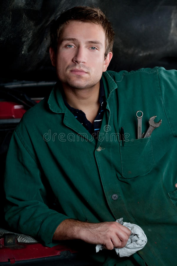 Download Handsome mechanic stock image. Image of person, handsome - 12091765