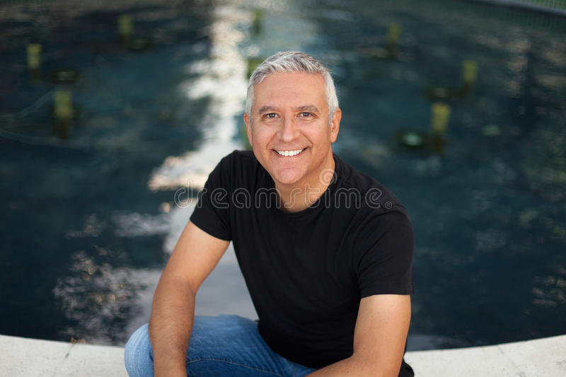 Handsome middle age man stock photography
