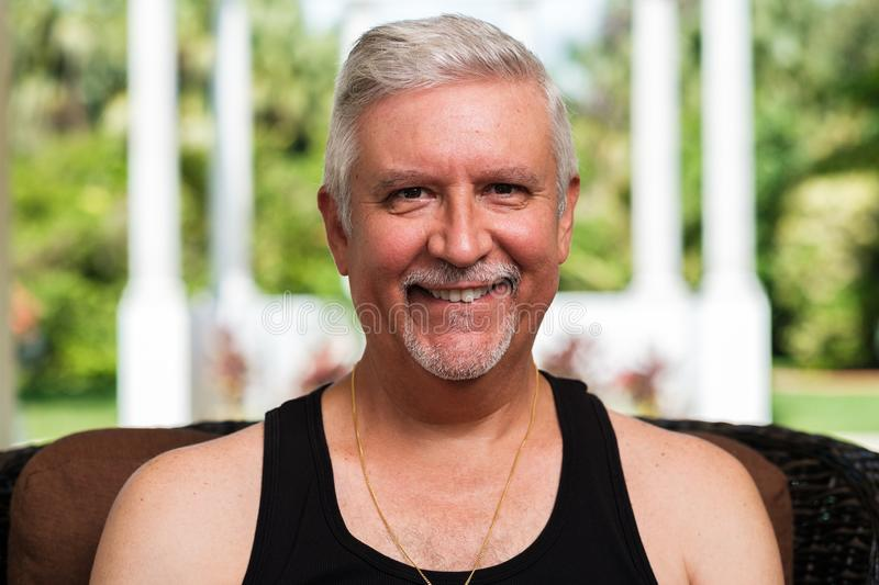 Handsome Middle Age Man royalty free stock image