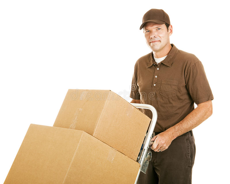Handsome Moving Man stock photo