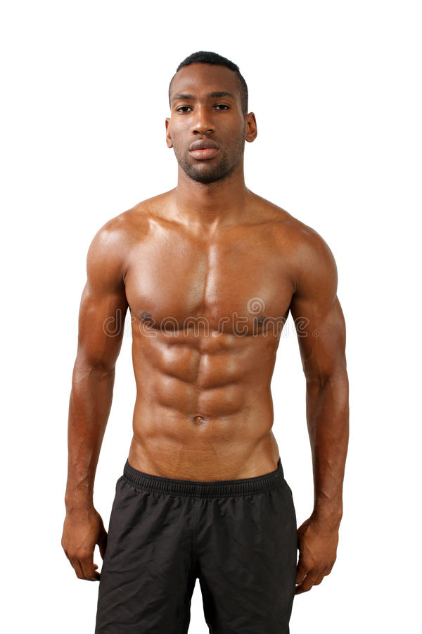 Free Handsome Muscular Black Man (14) Stock Images - 33196044