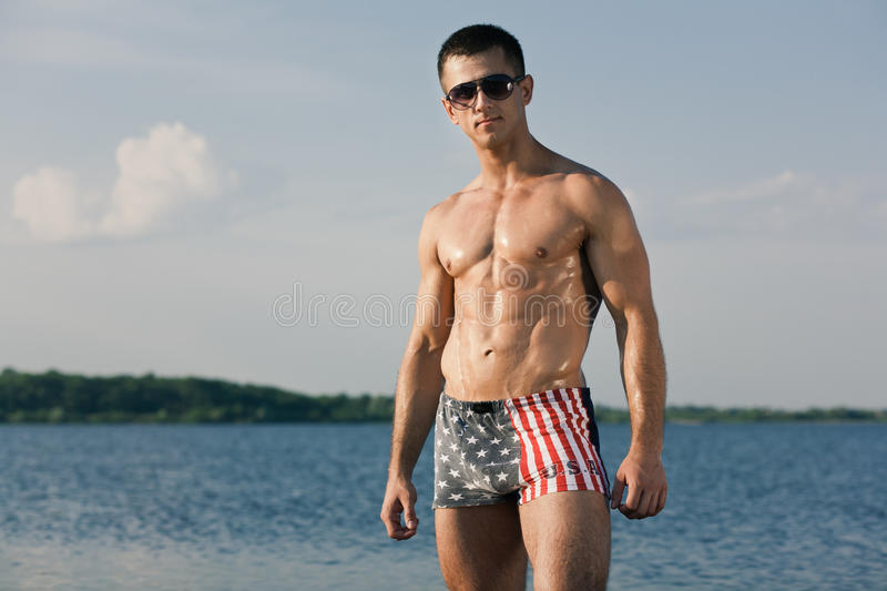 Download Handsome muscular guy stock image. Image of male, chest - 25554633