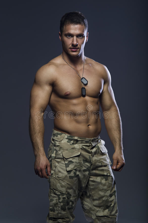 Free Handsome Muscular Man Stock Images - 43088334