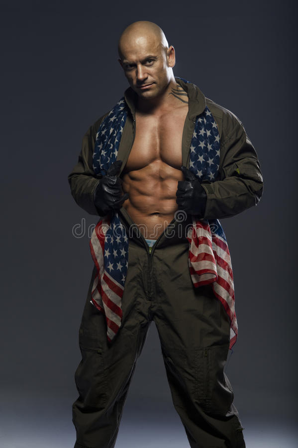 Handsome muscular man royalty free stock photography