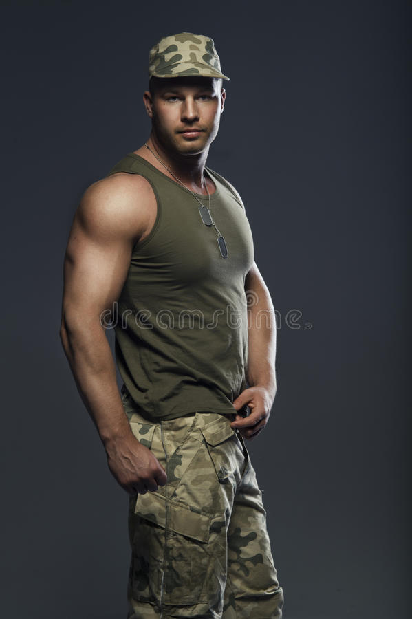 Handsome muscular man royalty free stock photo