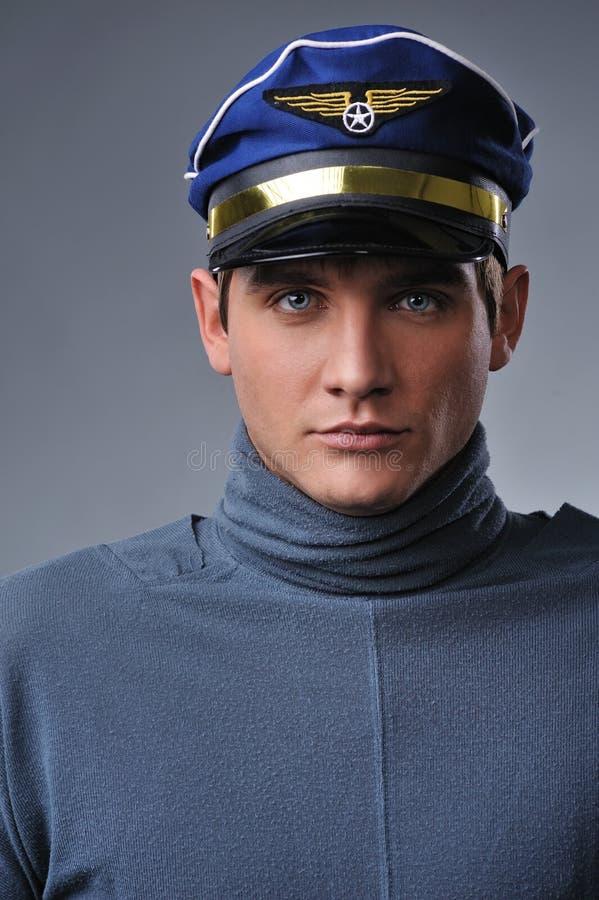 Handsome Pilot Stock Photo