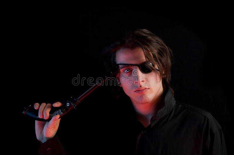 Handsome Pirate With Eye-patch Stock Image - Image of