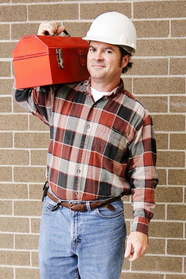 Handsome Repairman stock image