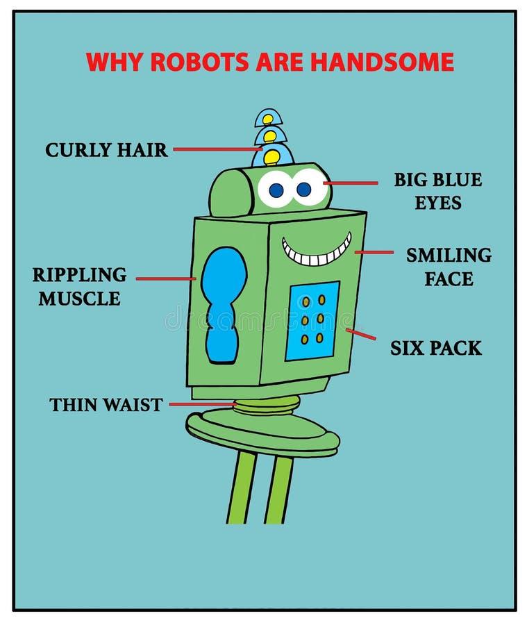 Handsome Robot stock illustration