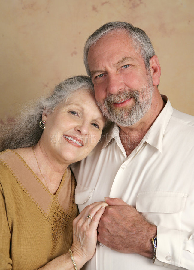 Handsome Senior Couple stock photography