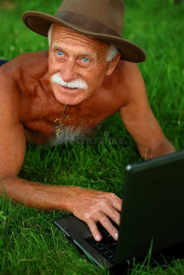 Handsome senior man stock image
