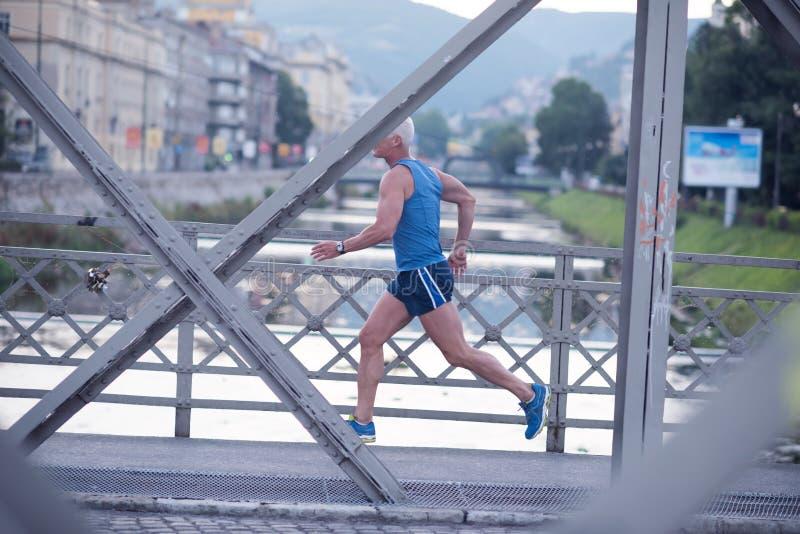 Download Handsome Senior Man  Jogging Stock Photo - Image: 71956010