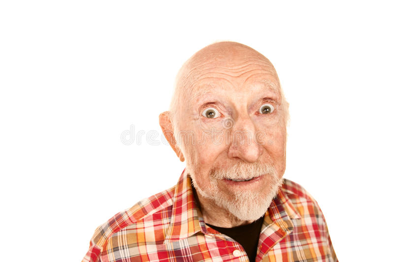 Handsome Senior Man With Surprised Expression Stock Image