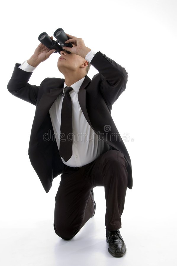Handsome Service Provider Watching Stock Images