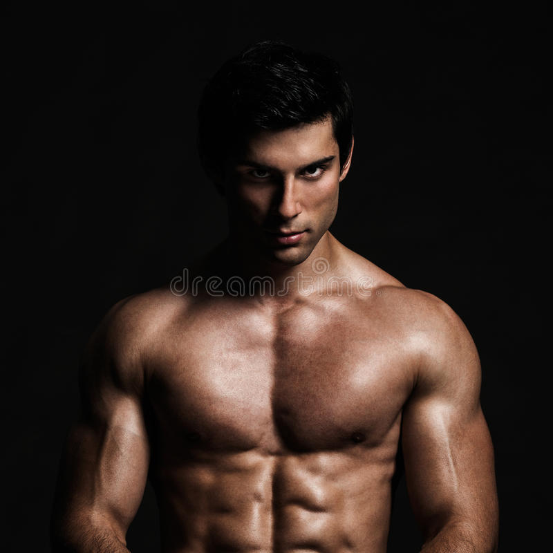 Handsome Shirtless Model Posing royalty free stock photos