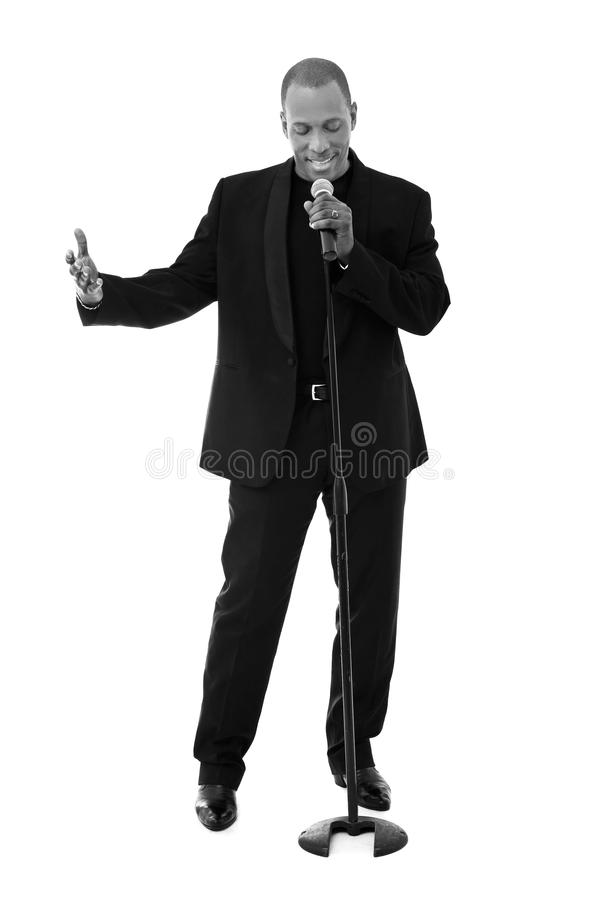 Handsome singer royalty free stock images