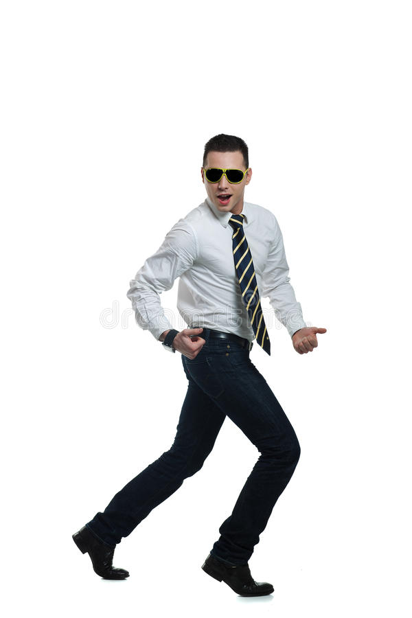 Handsome smart looking young man stock photography