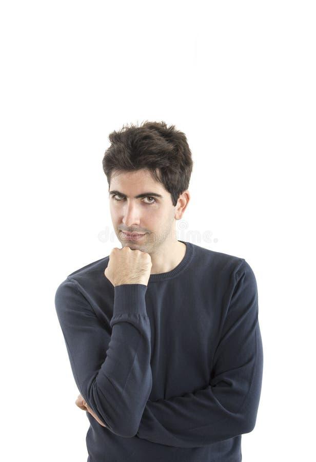 Handsome Smiling Guy isolated on white background royalty free stock image