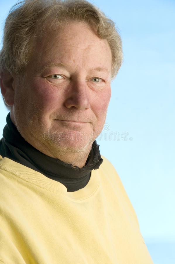 Handsome smiling middle age man worn portrait royalty free stock photography