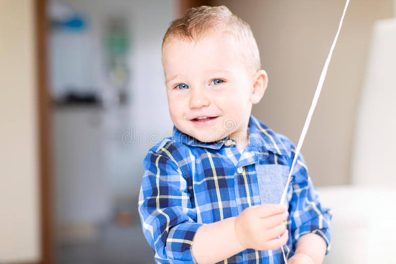 Handsome smiling toddler boy royalty free stock images