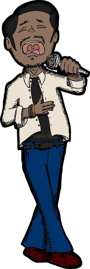 Handsome South Asian Singer vector illustration