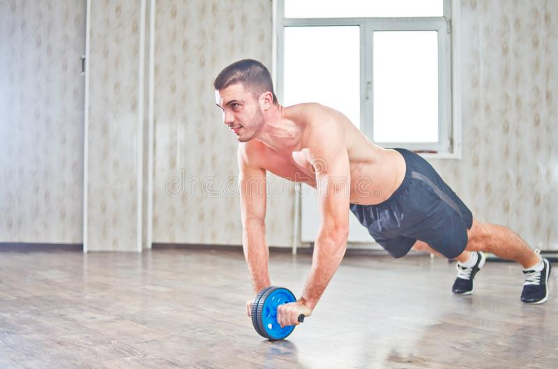 Handsome sportsman workout stock photos