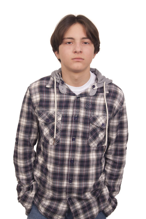 Handsome Teenager With Hand In Pocket Royalty Free Stock Image
