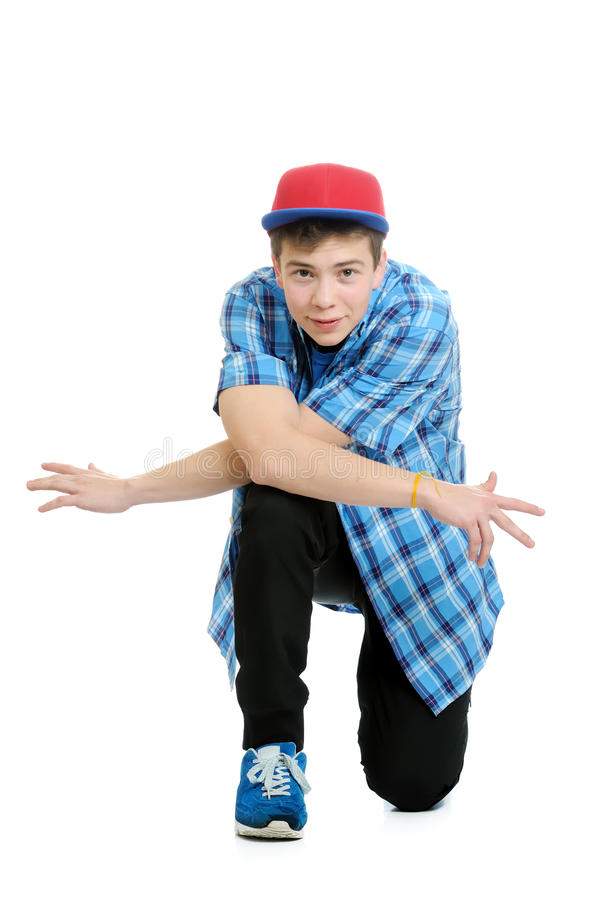 Handsome teenager looking at the camera. royalty free stock photography
