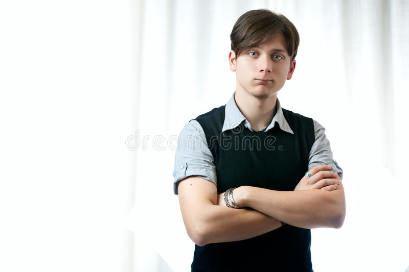 Download Handsome Teenager Posing stock image. Image of person - 18577247