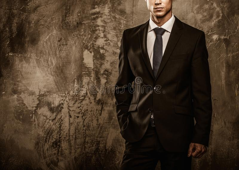 Handsome well-dressed man stock photos