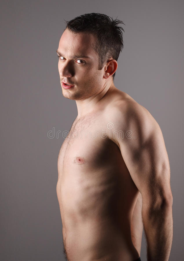 Handsome and wet young man royalty free stock photos
