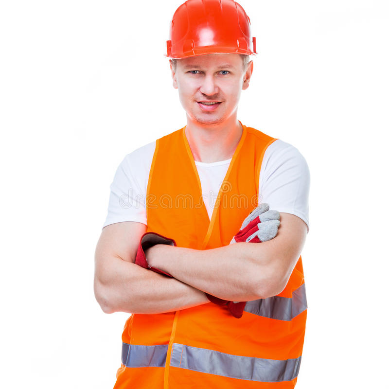 Handsome worker man royalty free stock images