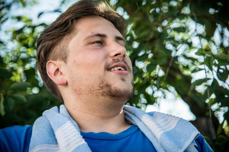 Handsome young adult male stock photography